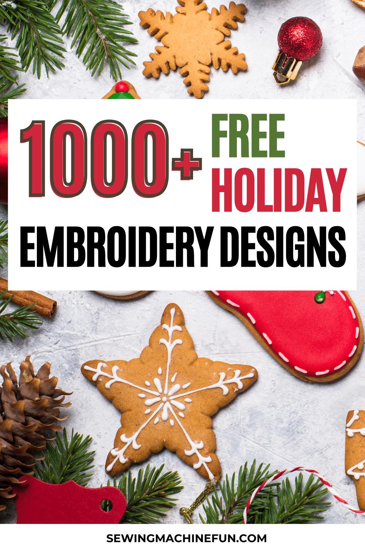 free winter embroidery machine designs