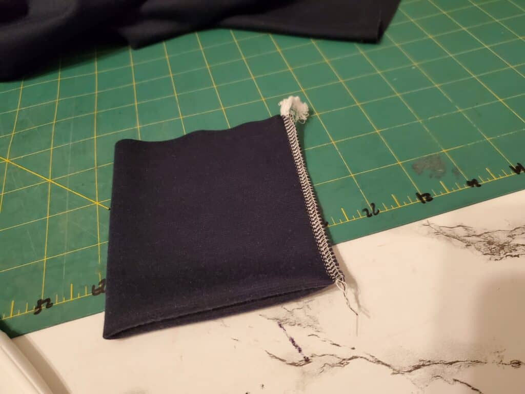 making the cuff out of ribbing