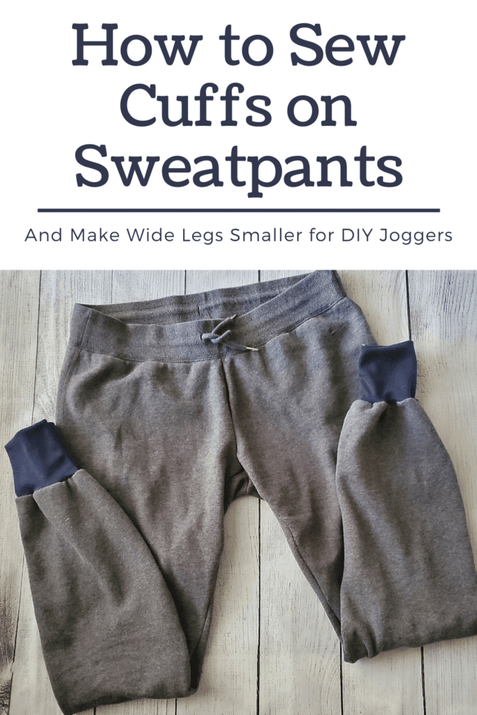 how to sew cuffs on old sweatpants