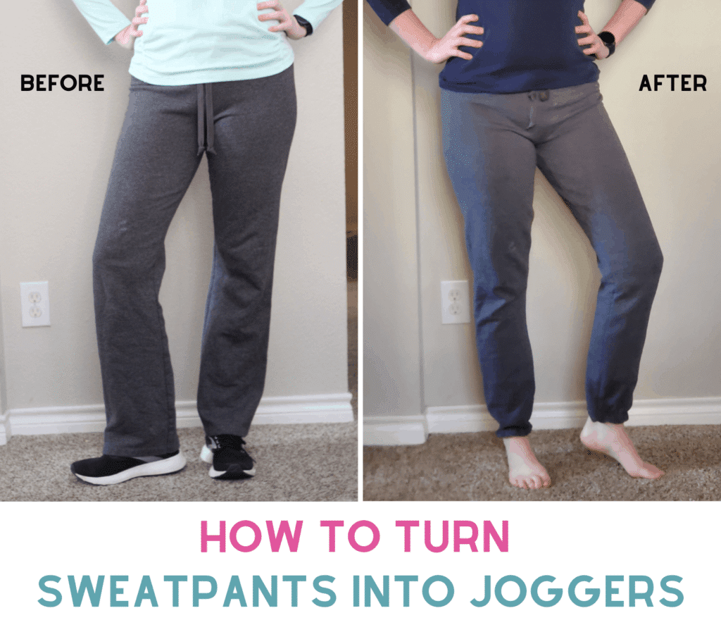 how to sew joggers from wide sweatpants
