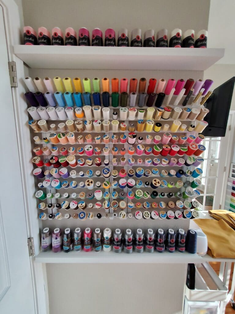 the most awesome thread holder organization idea!