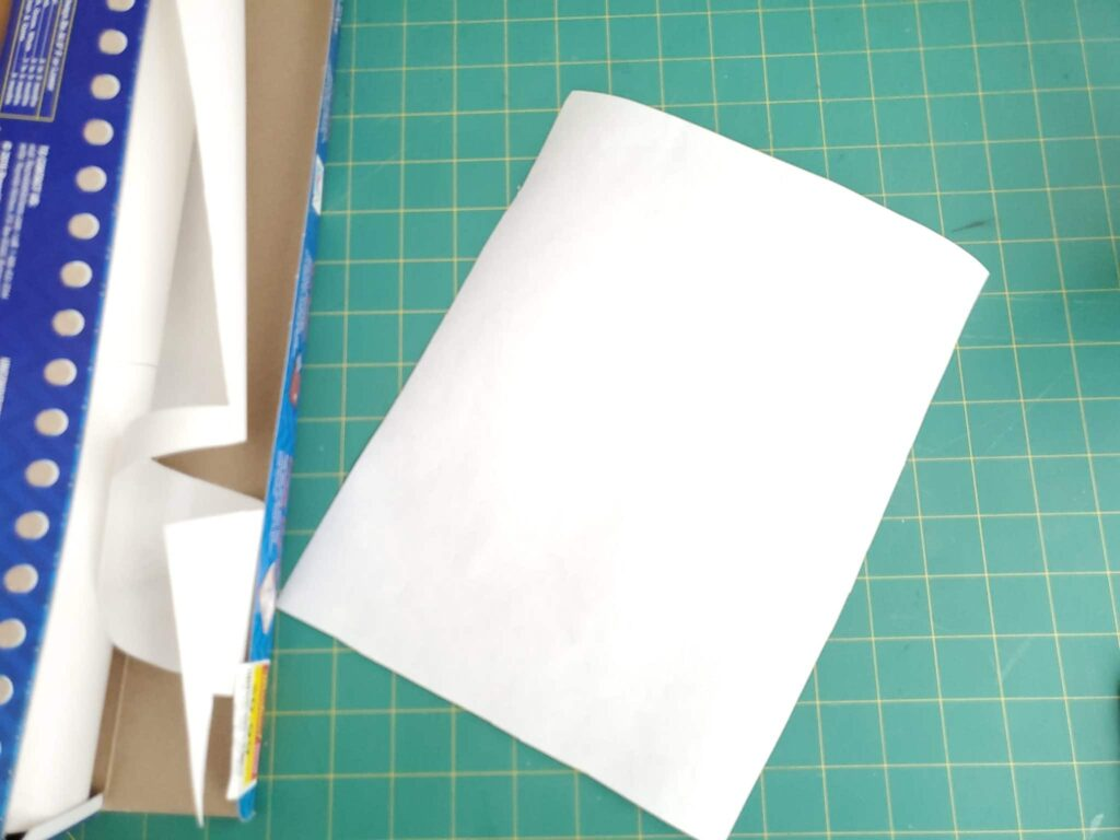 how to cut freezer paper to paper size for printing