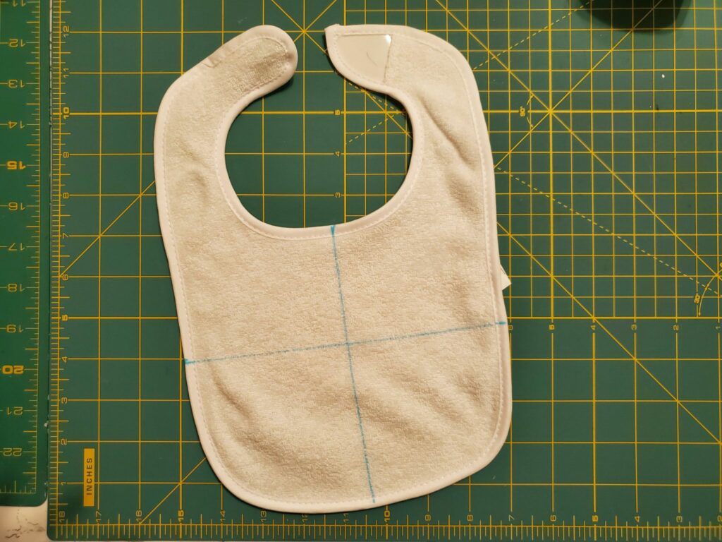 how to mark a bib for embroidery