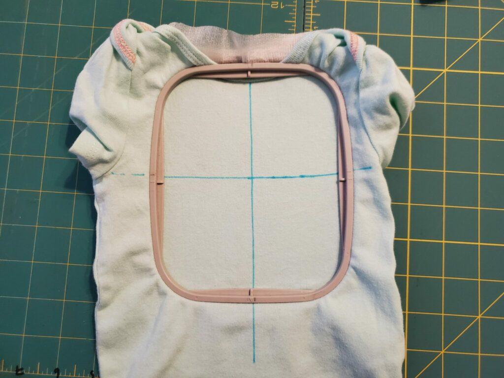 how to hoop a onesie