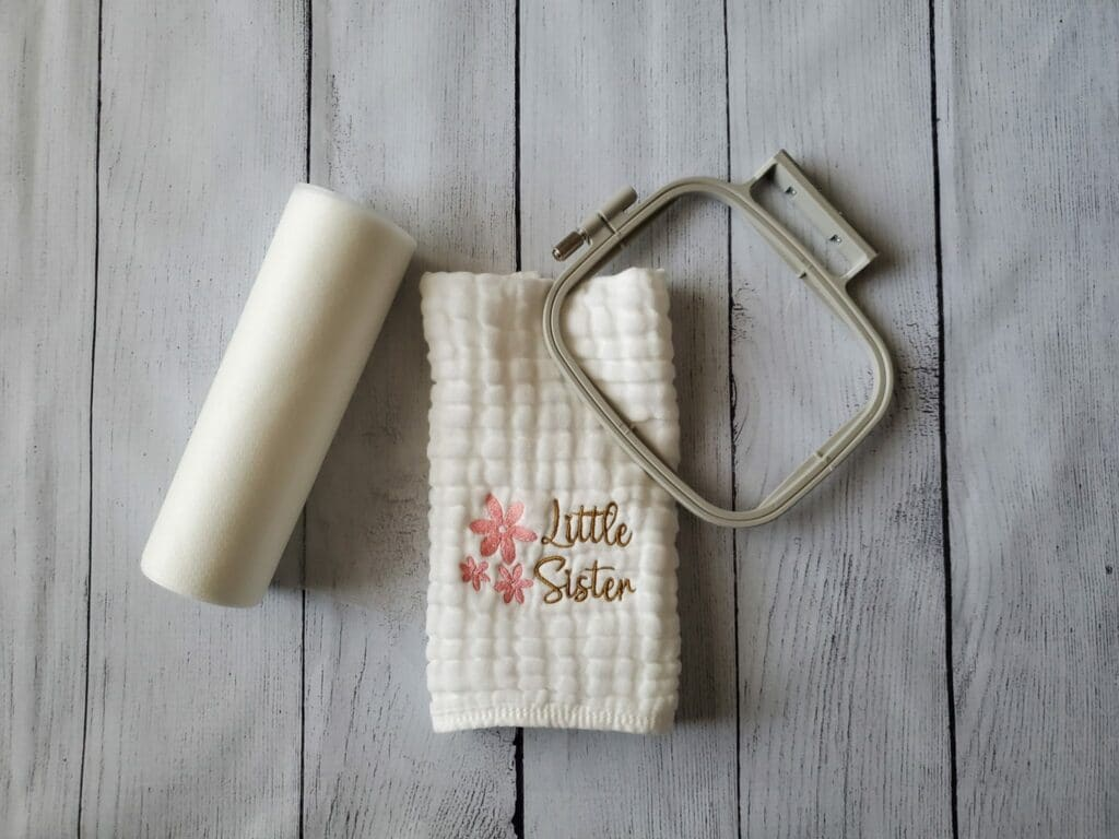 embroidered burp cloth for baby