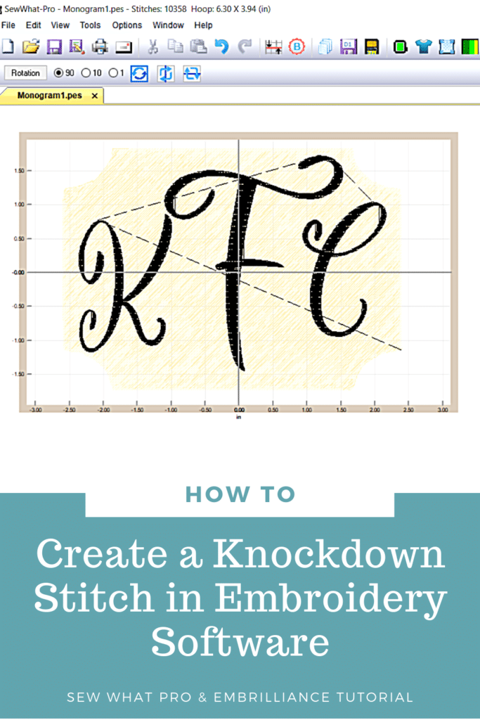 How to do a knockdown stitch in embrilliance and sew what pro