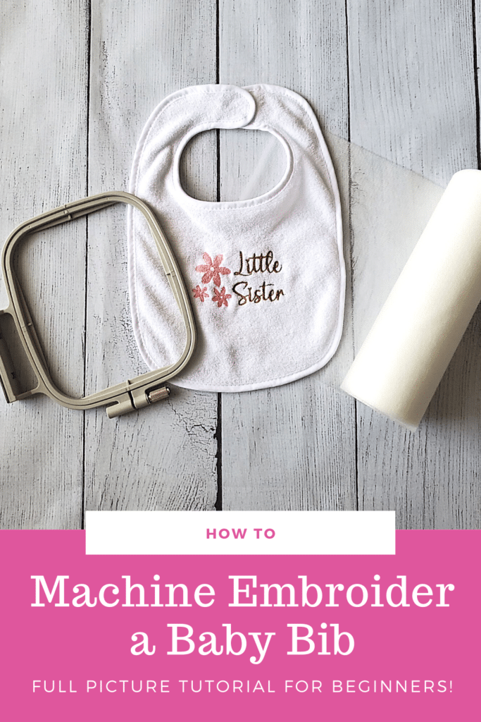 How to machine embroider a baby bib