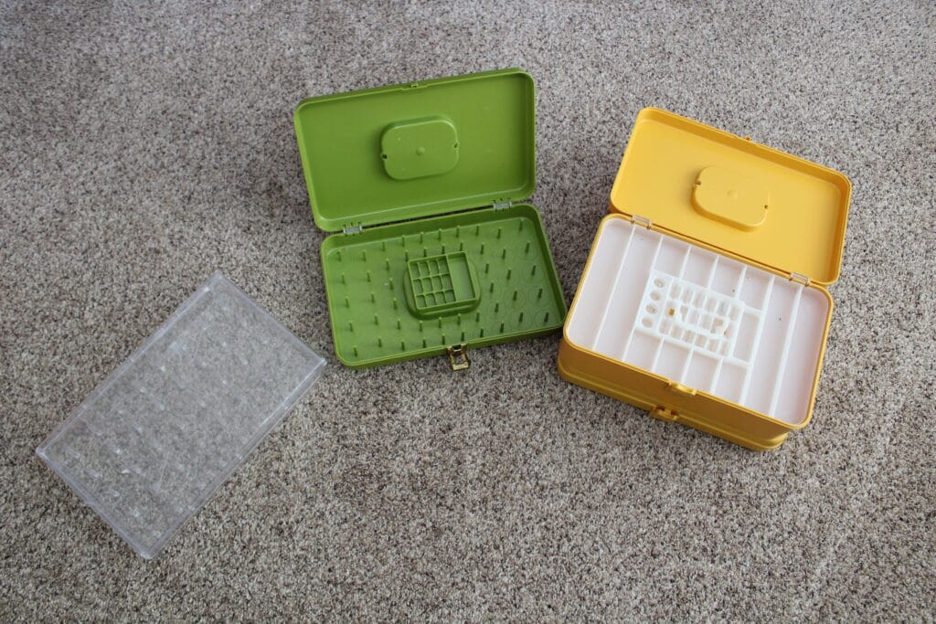 thread spool storage containers