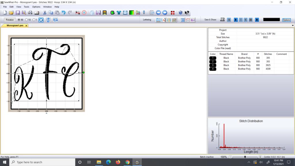 sew what pro monogram
