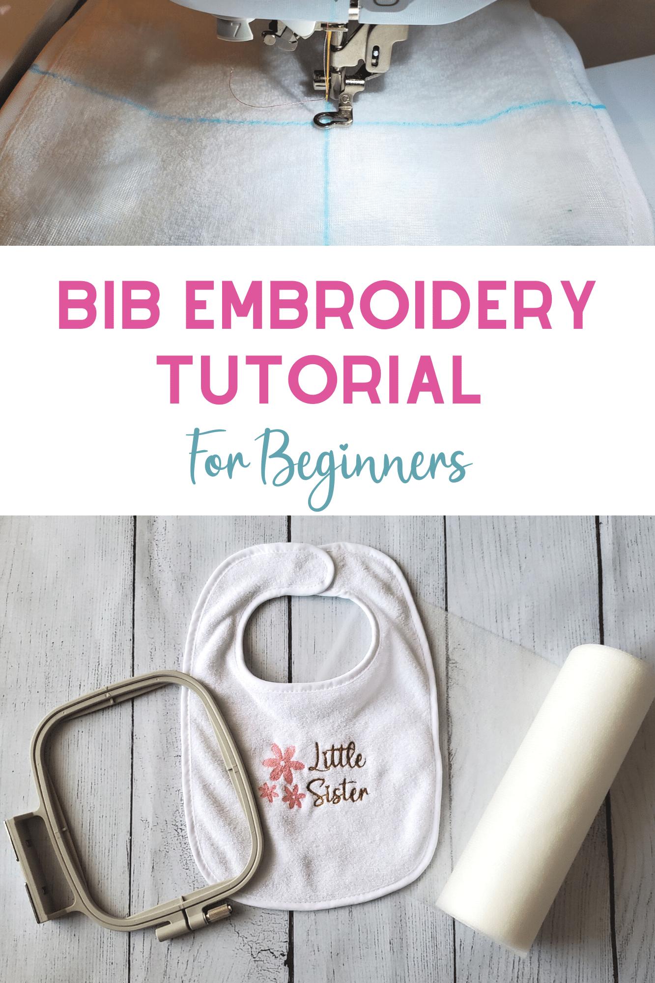 bib embroidery tutorial for beginner