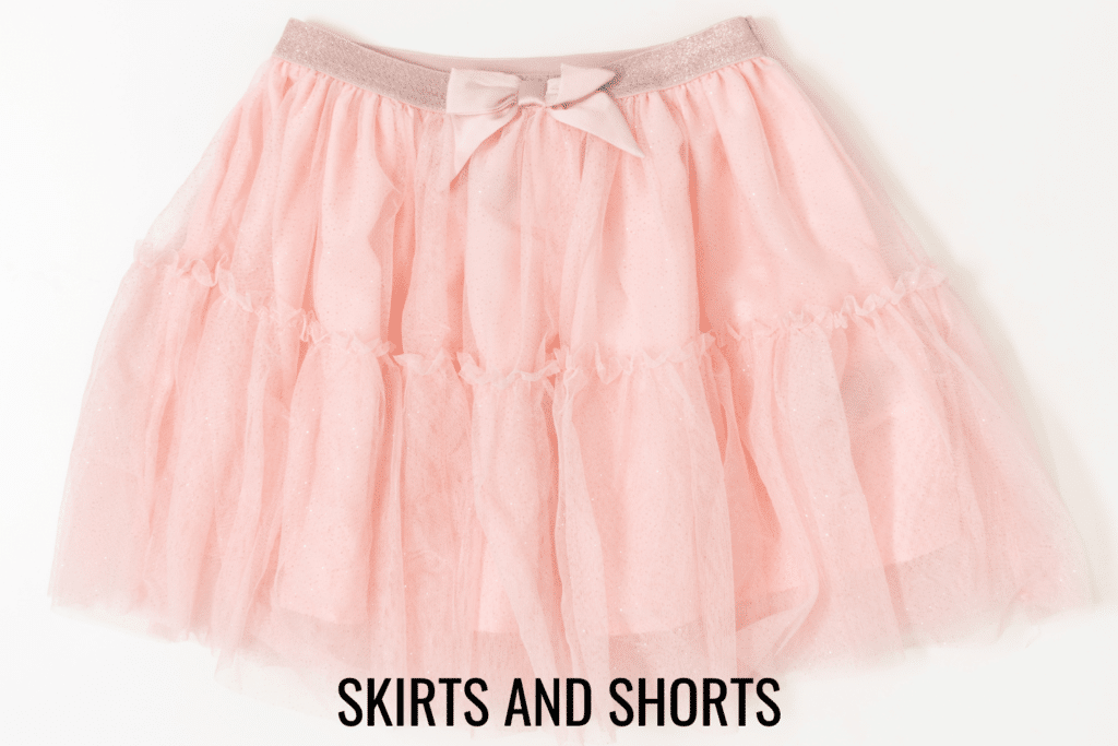 doll skirts and shorts patterns