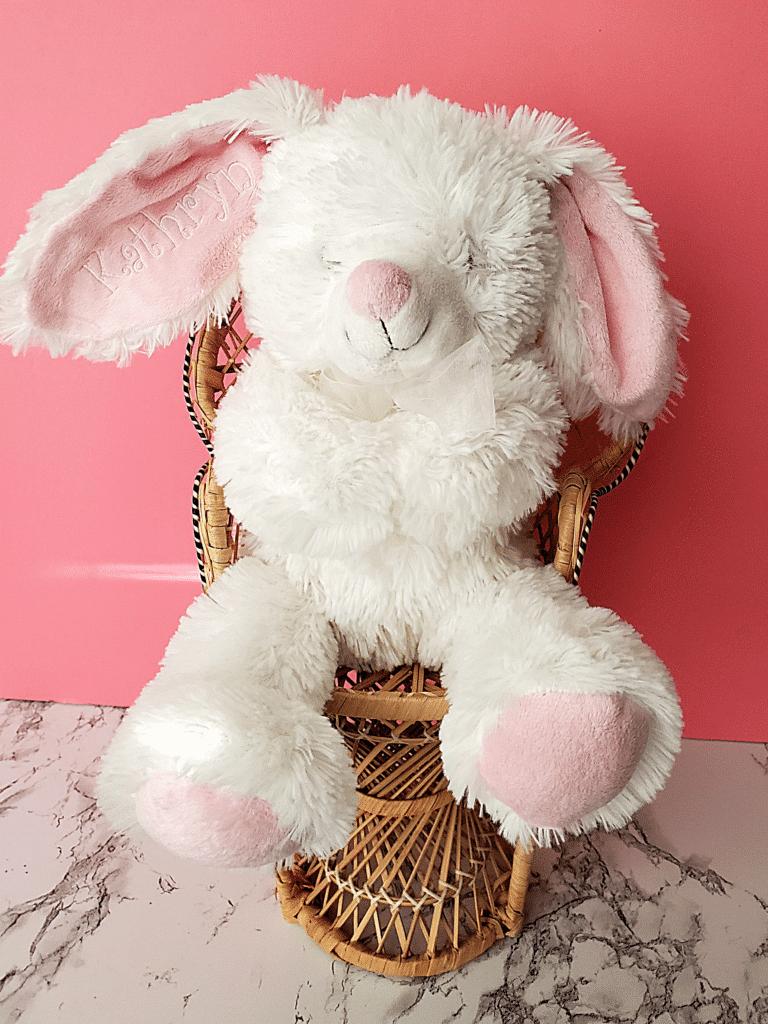 embroider a stuffed animal ear