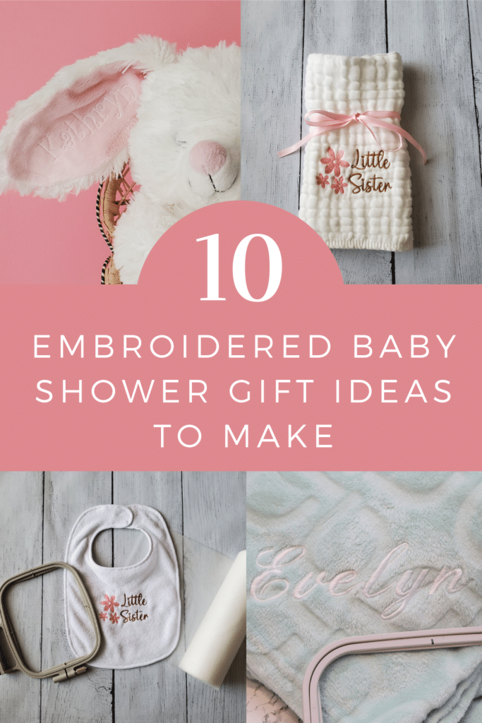 embroidered baby shower gift ideas