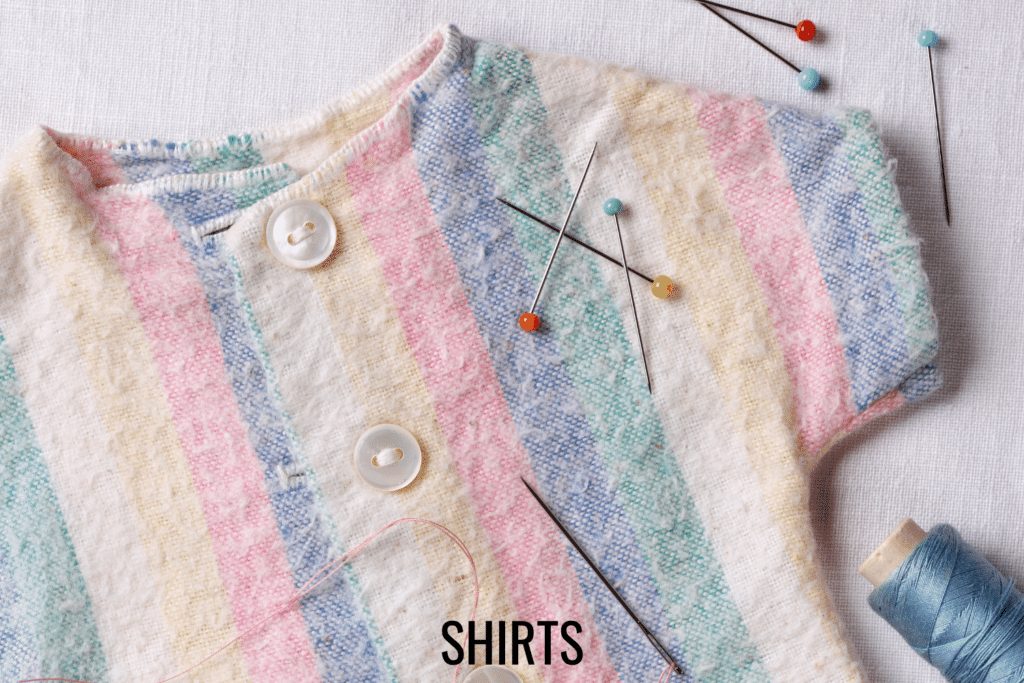 free doll shirt patterns to sew for DIY doll clothes