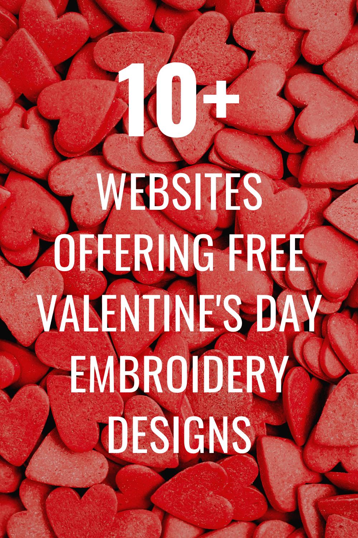 free valentine's day embroidery machine designs