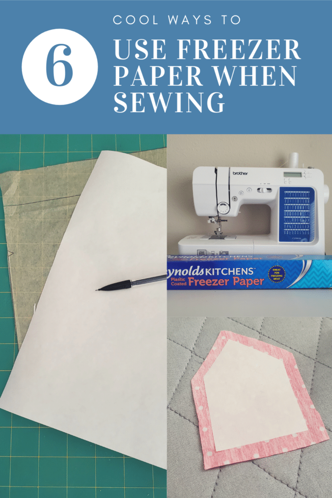 how to iron freezer paper and use it for sewing and quilting