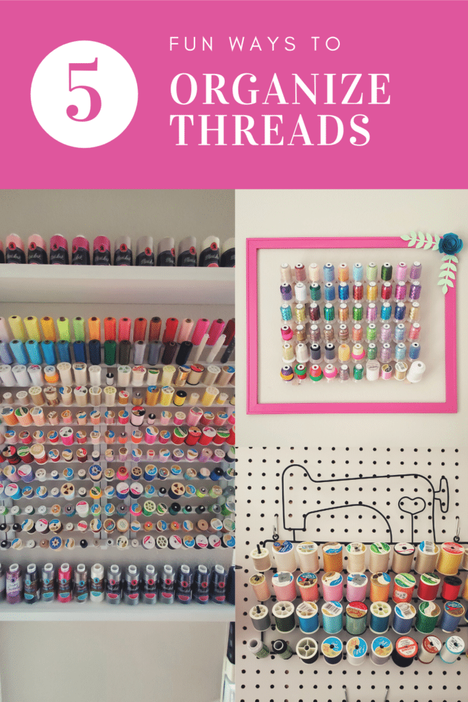 how to organize sewing threads