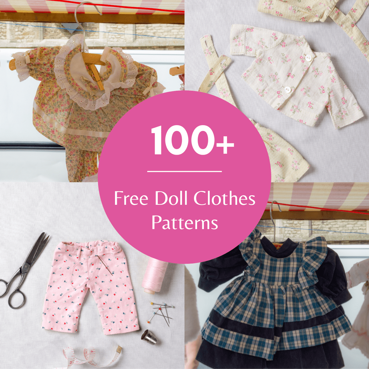 100+ Free Printable DIY Doll Clothes Patterns To Sew
