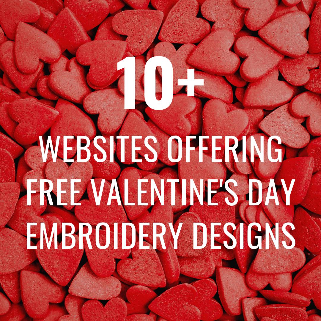 Free Valentine's Day Machine Embroidery Designs Websites