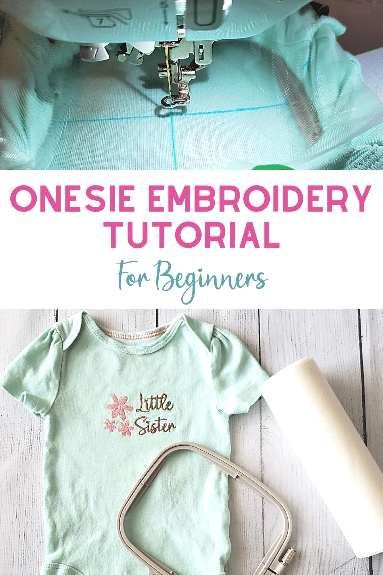 onesie embroidery tutorial for beginner