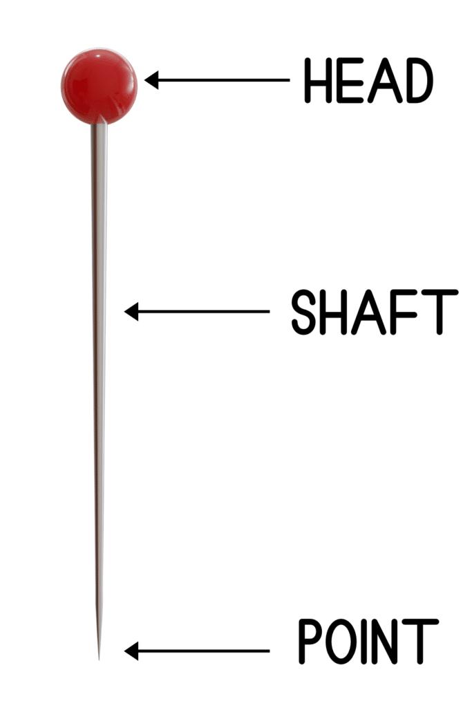 parts of a sewing pin