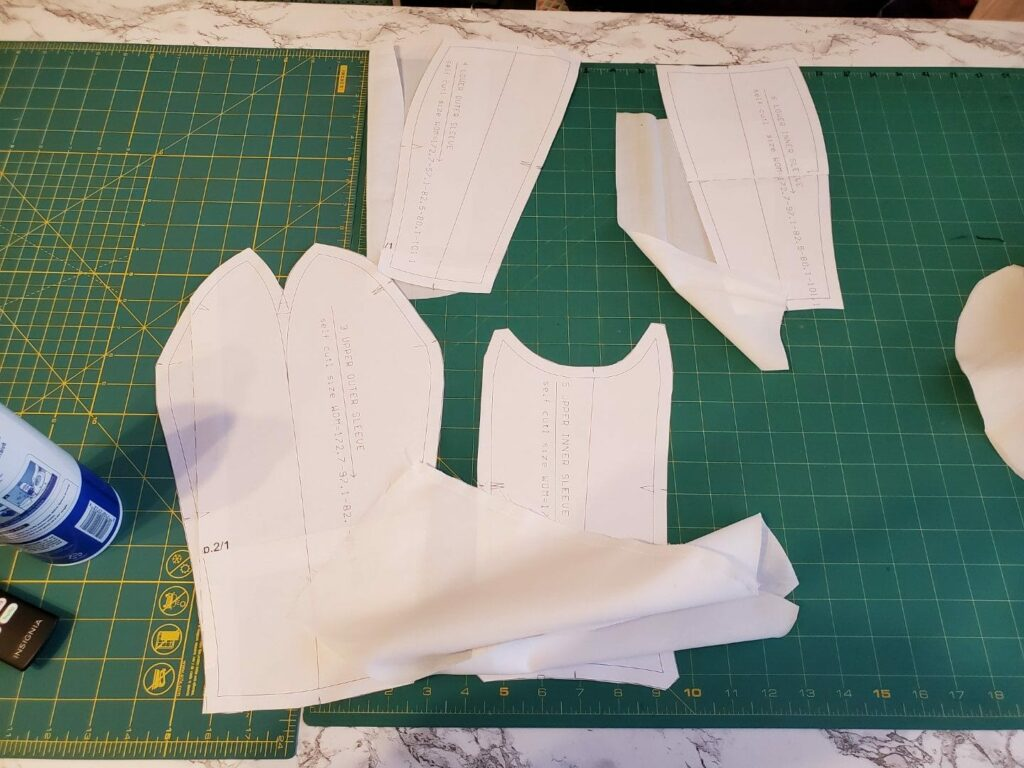 the diy dress form arm pattern pieces