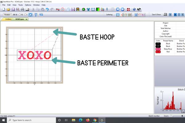 Baste hoop vs baste perimeter