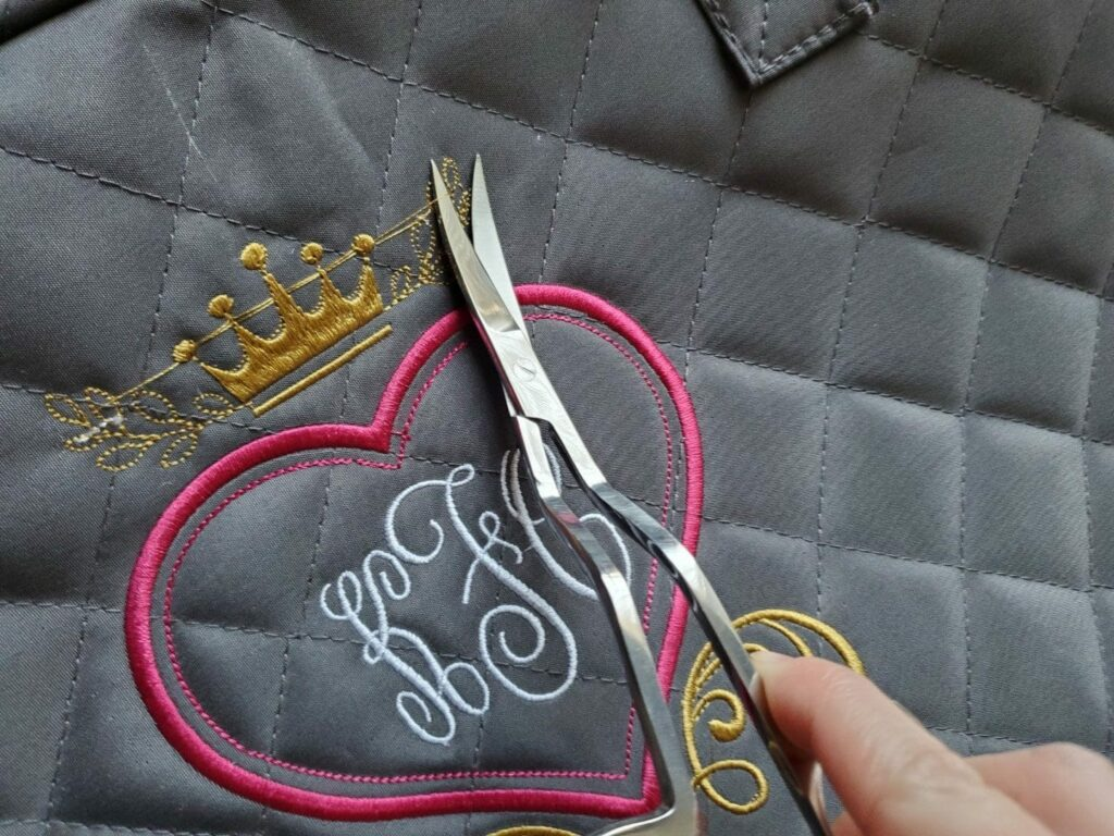 double-curved embroidery scissors