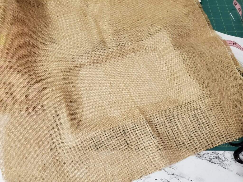 how to float burlap for embroidery