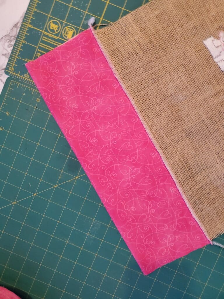 how to add a ruffle to a burlap flag