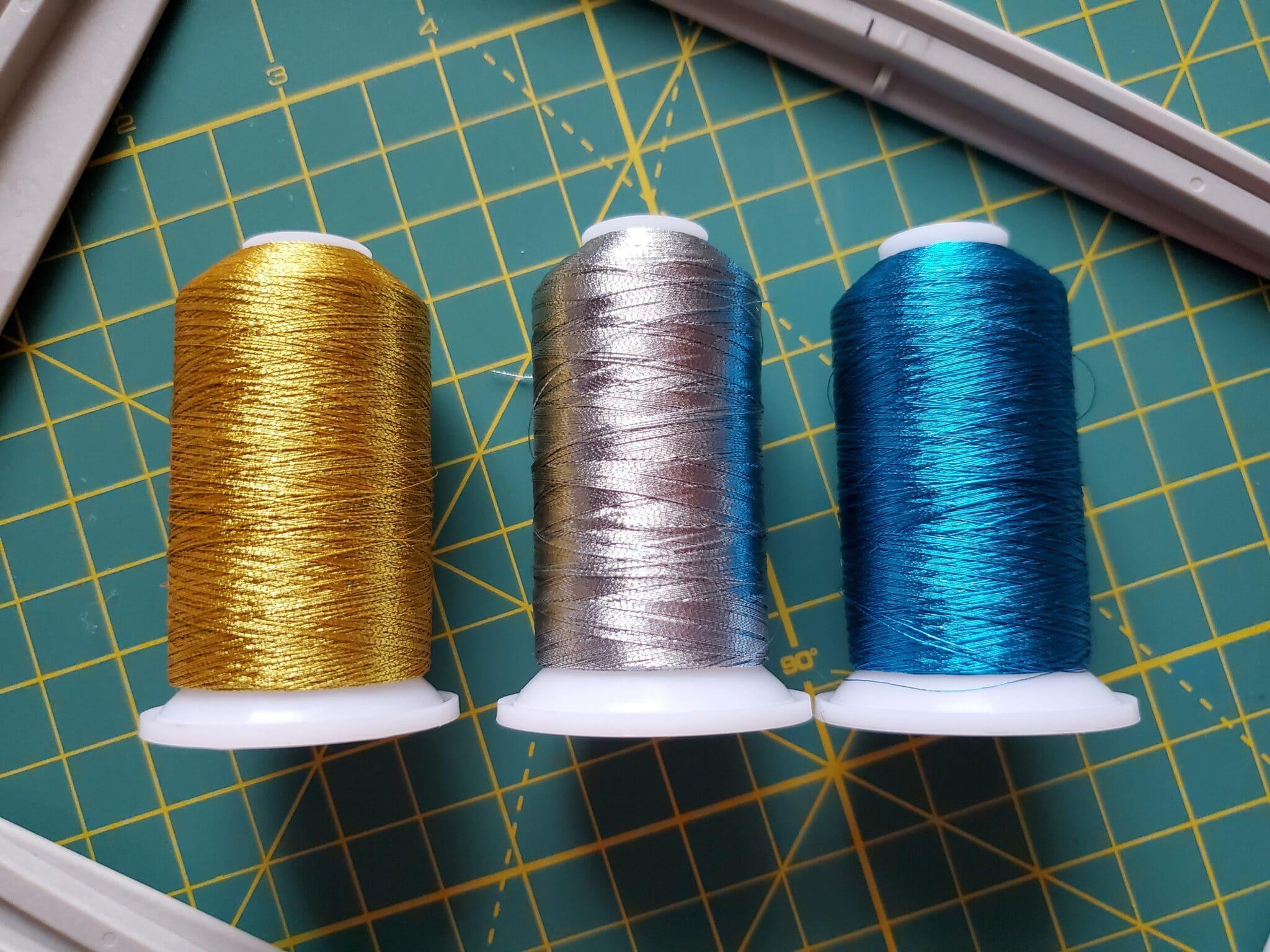 metallic thread for a singer sewing machine