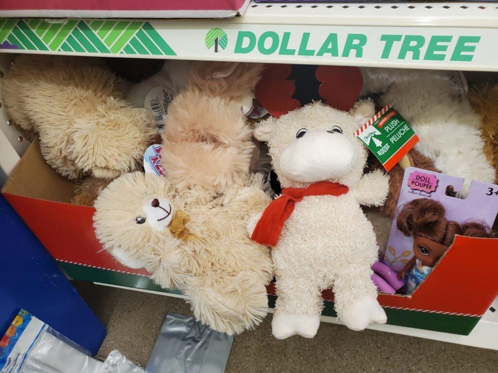 dollar tree stuffed animals to embroider