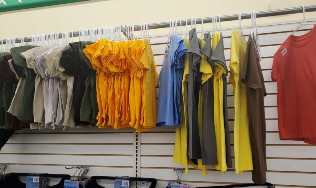 t-shirts at dollar tree
