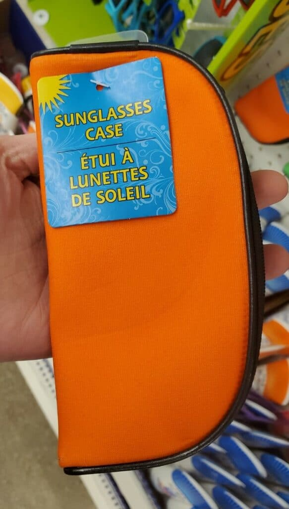 dollar tree sunglasses soft case
