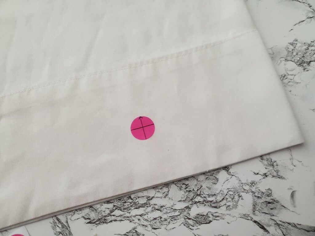 how to place an embroidery target sticker