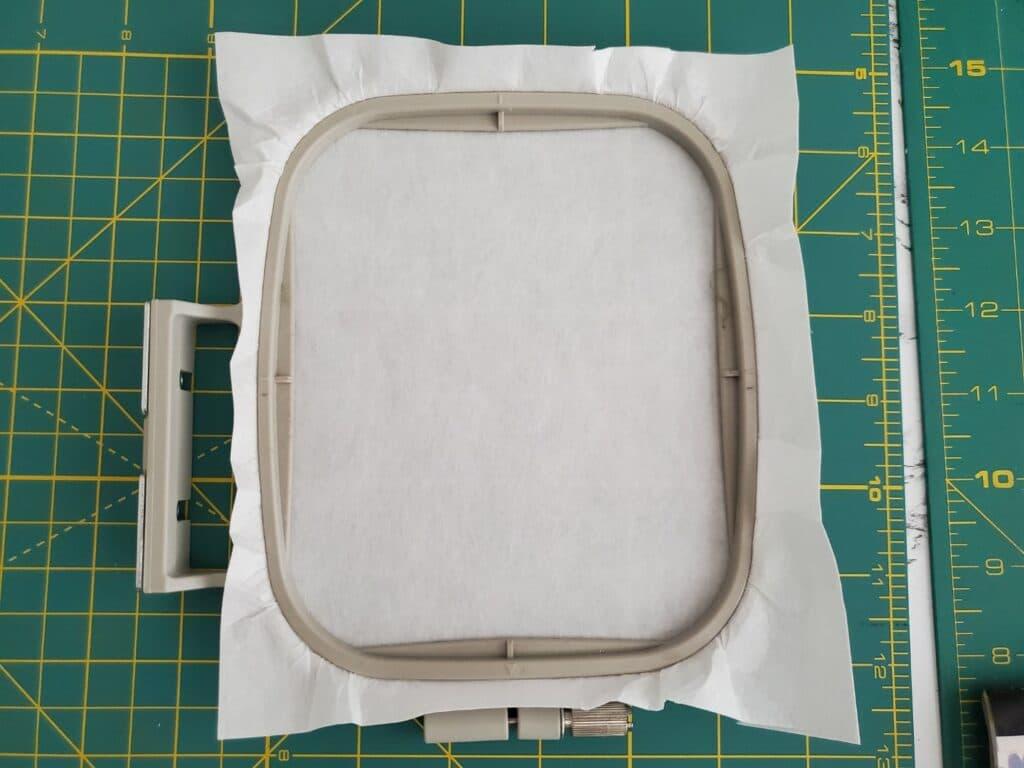 hoop cut-away stabilizer