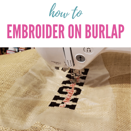 How to Embroider on Burlap – My Embroidered Flag Tutorial