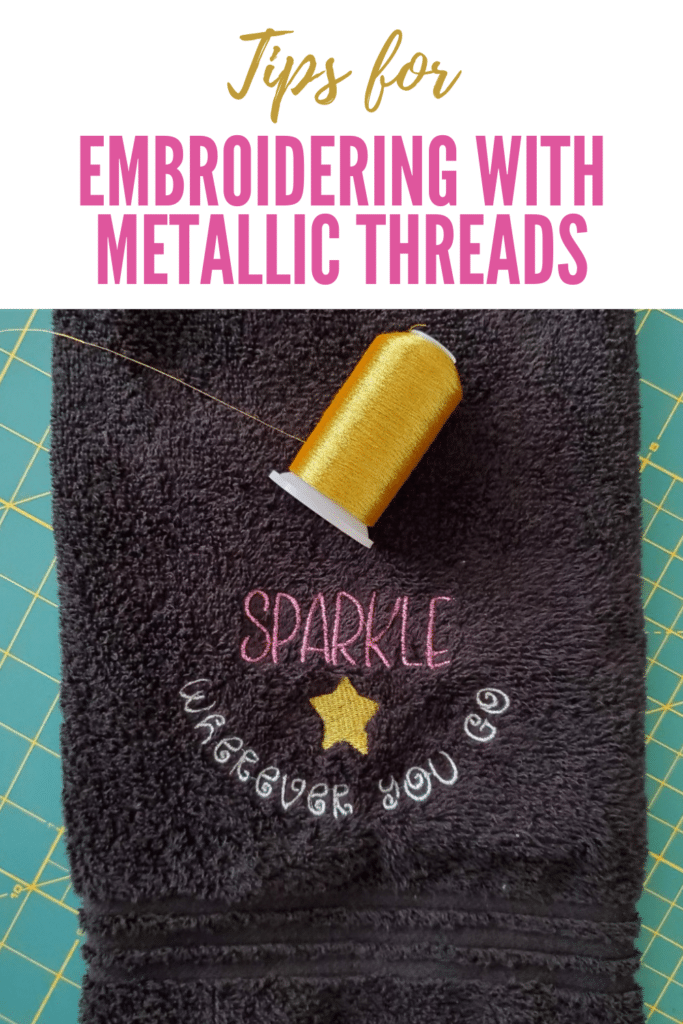 metallic thread embroidery tips