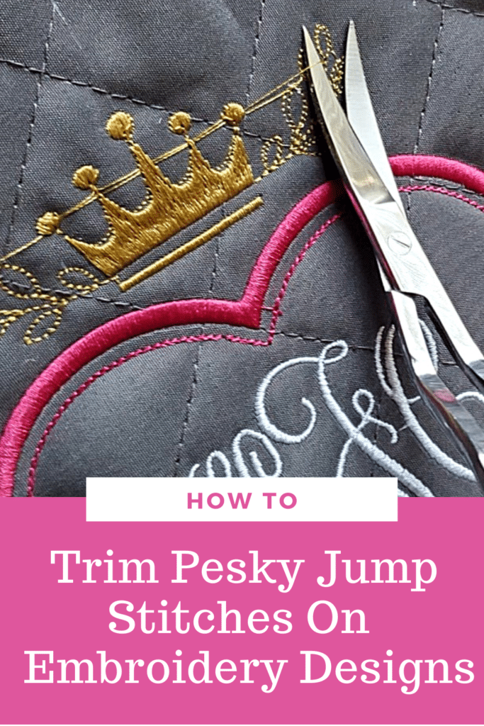 How to trim jump stitches