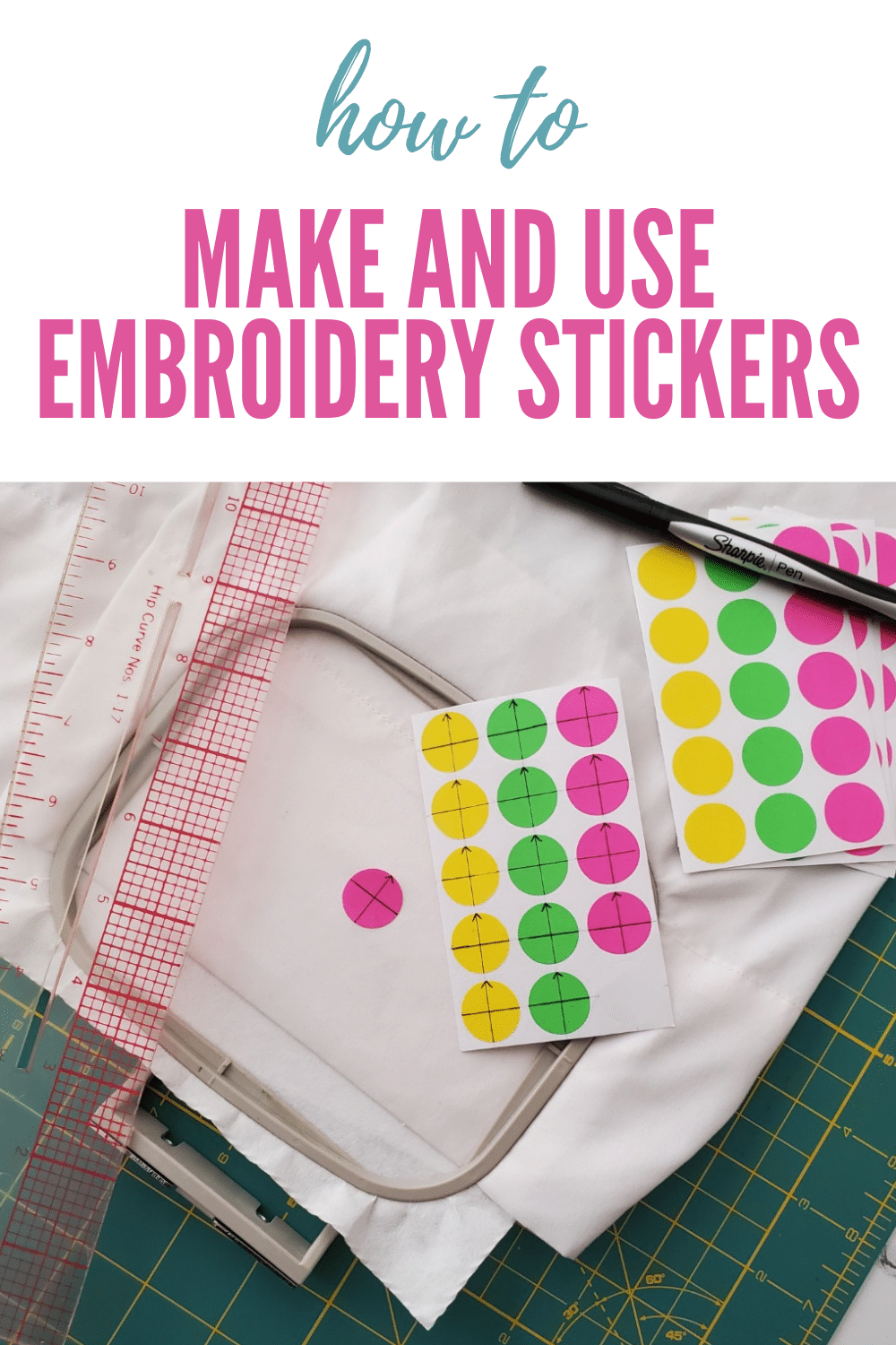 Make and use embroidery stickers