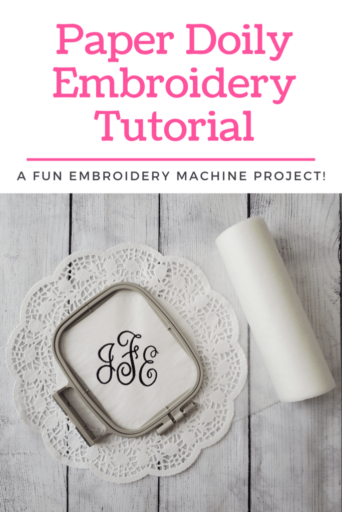 how to embroider a paper doily