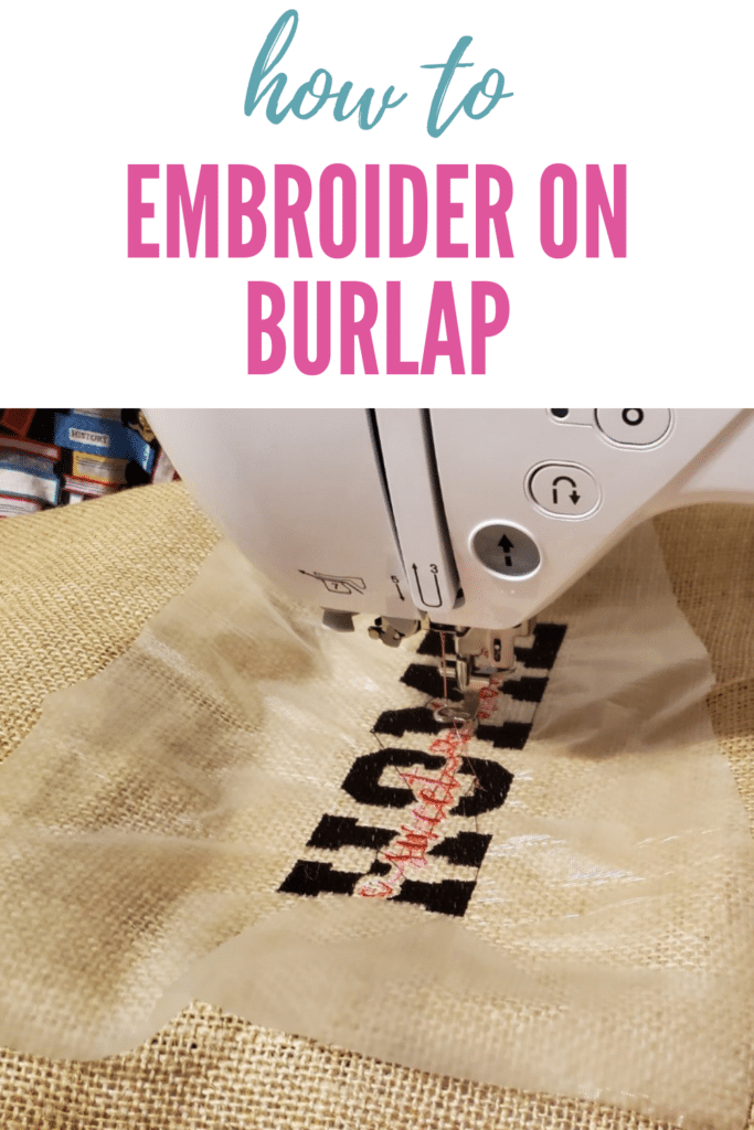 can you embroider on burlap?
