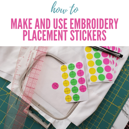 How to Use Embroidery Target Stickers for Placement + DIY Tutorial