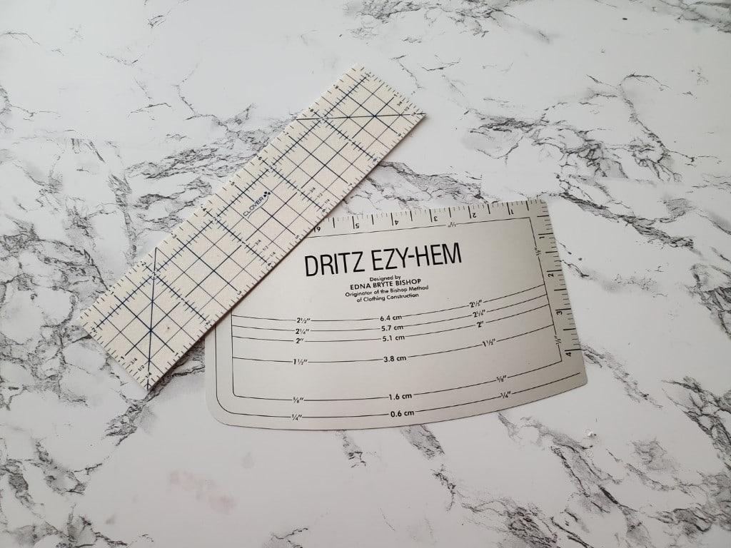 hot ruler and Dritz EZ-Hem