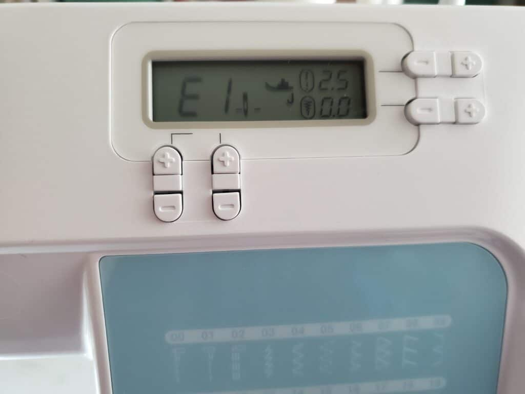 e1 error code on brother sewing machine cp60x