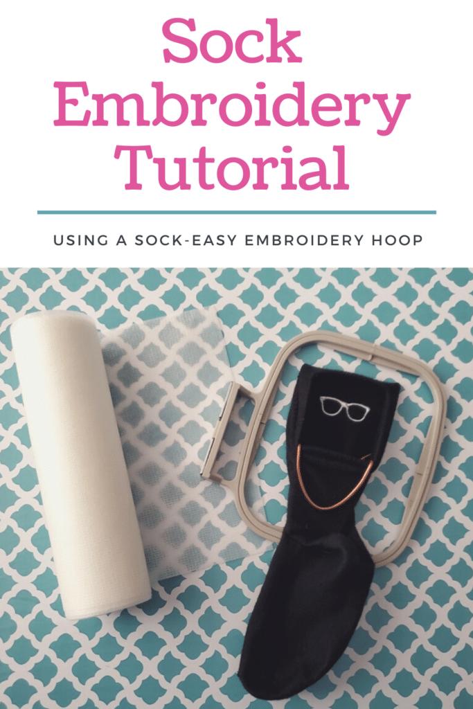 DIY embroidered socks tutorial