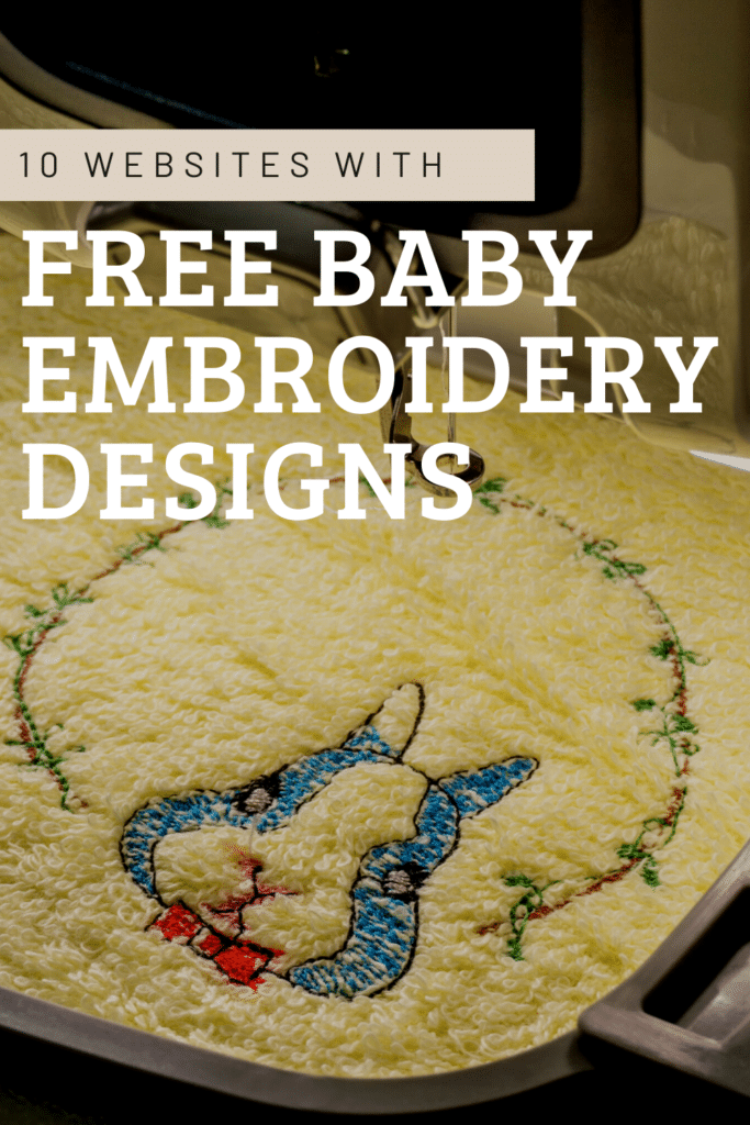 free embroidery designs for baby boys and girls