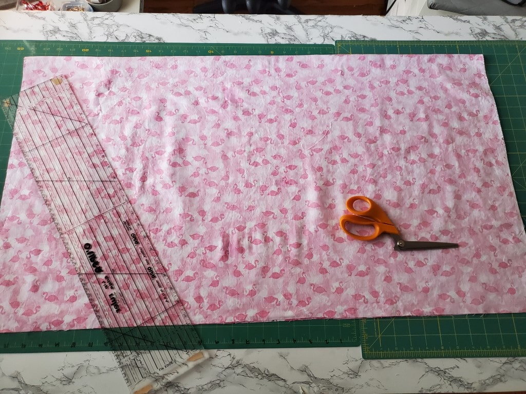 cut main piece of fabric