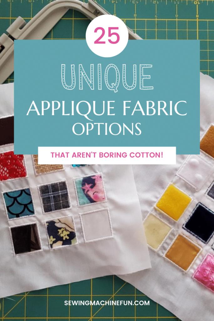 best applique fabric ideas