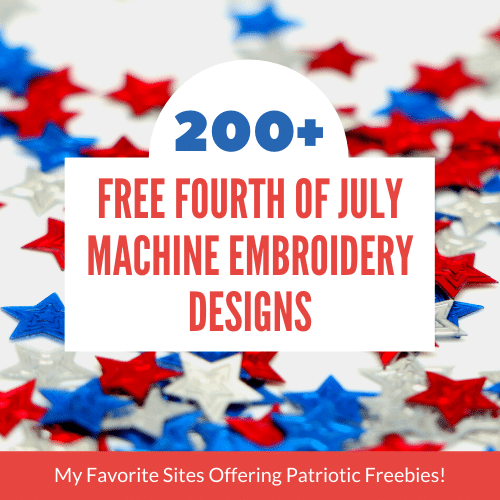 10+ Free Fourth of July Embroidery Designs Sites